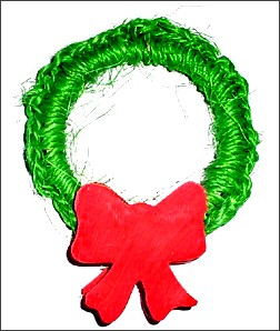 Holiday Sisal Wreath Chinchilla