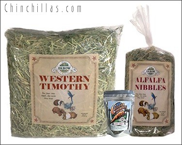 Oxbow Timothy, Alfalfa and Carrot Treat Chinchilla