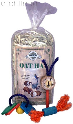 Oxbow Oat Hay and Chinchilla Toy Assortment Chinchilla