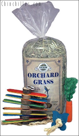 Oxbow Orchard Grass and Chinchilla Toy Assortment Chinchilla