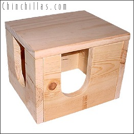 White Pine Chinchilla Hiding Box Chinchilla