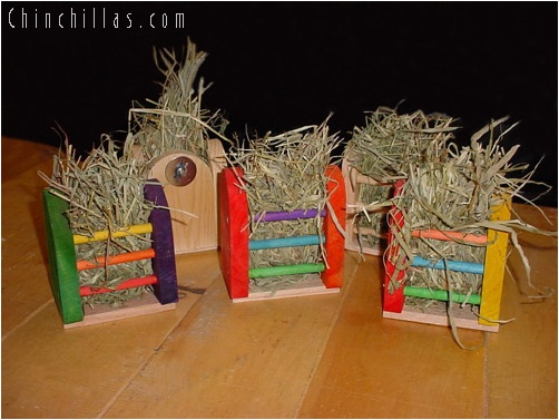 Colorful & Natural Wooden Crafted Hayracks Chinchilla