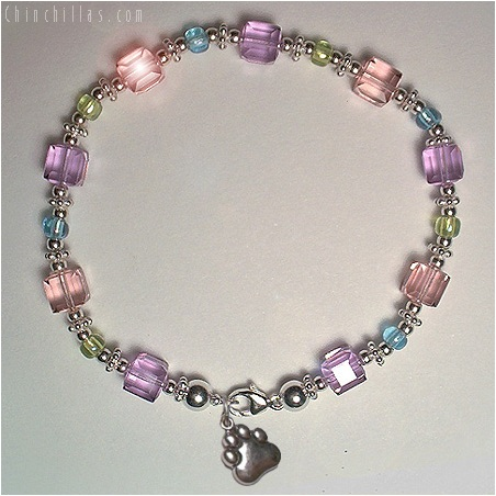 Color Changing Swarovski Crystal Chinchilla Charm Bracelet Chinchilla